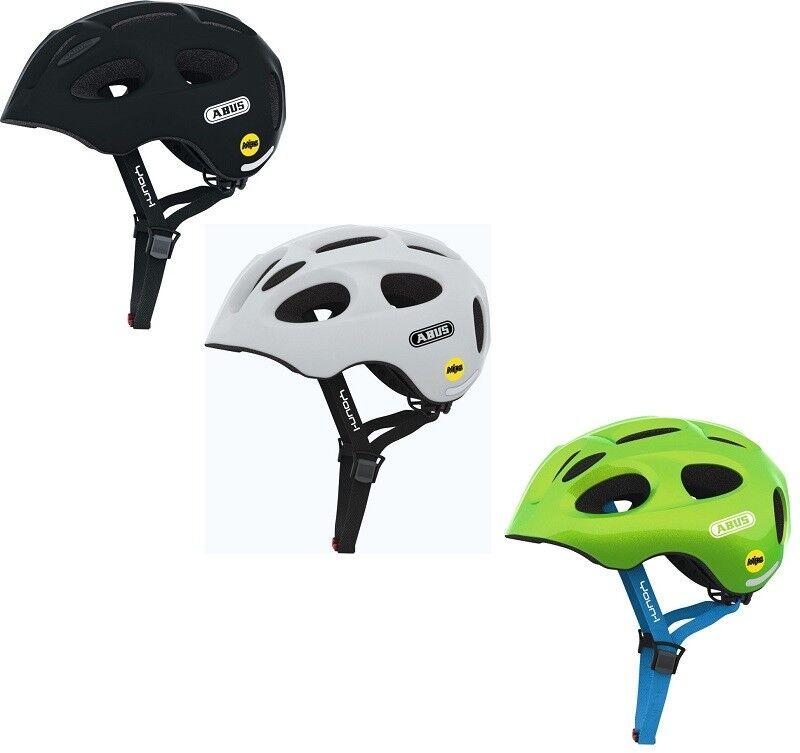 Abus yun-I MIPS niños juventud casco de ciclista con luz trasera ajustable, + ventilado