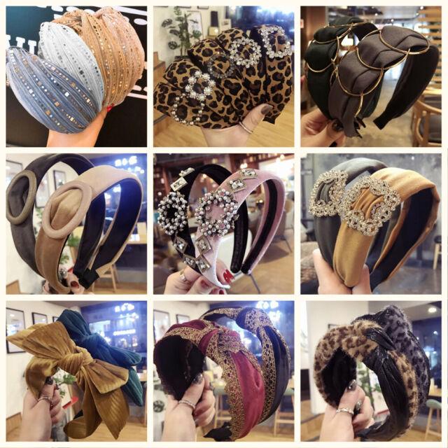 Damen-verschleiss Kunststoff Schwarz Welliges Haar Reifen Haarband D3G9 1I