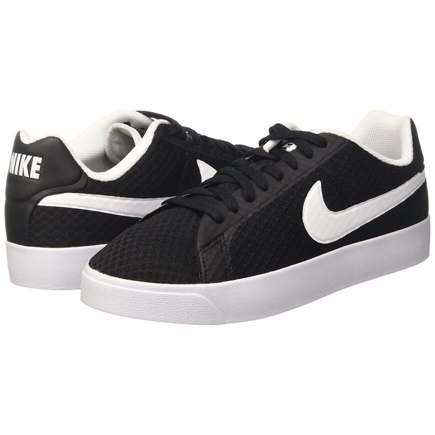 MEN'S SIZE 11 NIKE SNEAKERS / SHOE COURT ROYALE LOW TXT BLACK WHITE 833273 010