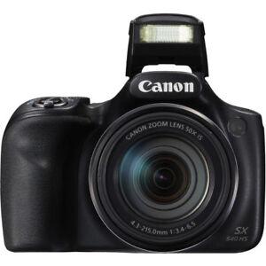 Canon-PowerShot-SX540-20-3MP-50x-Zoom-Full-HD-1080p-WIFI-fotocamera-digitale-Nero