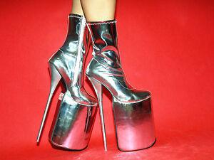 4 Silver Exclusive 20cm Boots Platform 30cm Size Lack 12 Highs xItaqqwvY