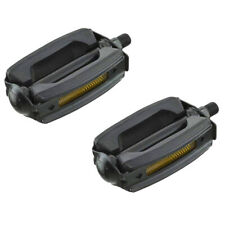 """Bicycle Krate Rubber Pedals 1//2/"""" Black//Chrome 202-610 New"""