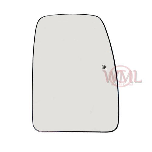 RENAULT MASTER 2004-/>2009 DOOR MIRROR GLASS SILVER HEATED/&BASE,RIGHTSIDE 110MM