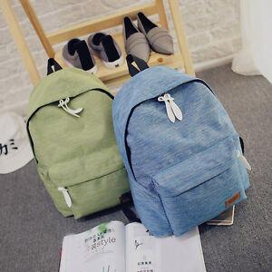 Women Girl Bags Backpack School Fashion Shoulder Bag Canvas Travel Bags Rucksack