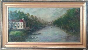 tableau huile /toile  - paysage - signée