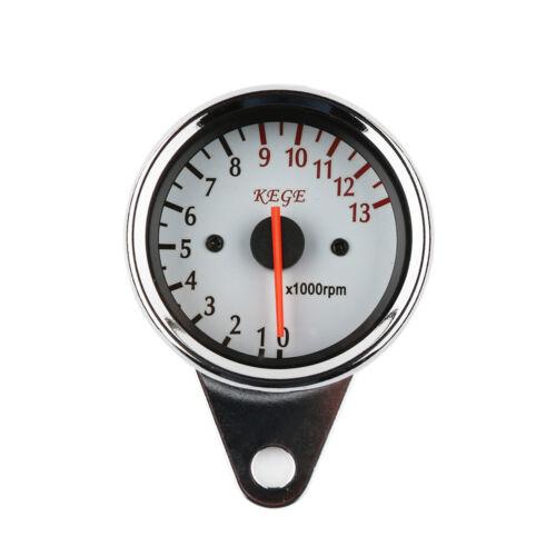 Tachometer Speedometer Gauge W// Turn Signal Motorcycle Universal LED Odometer