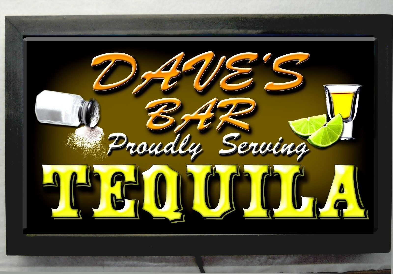 LED LIGHTED TEQUILA BAR SIGN PERSONALIZED - GREAT GIFT IDEA