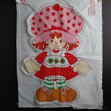 "Vtg 1980 Strawberry Shortcake Fabric Panel Pillow Stuffed Toy Doll UNCUT 20/"""