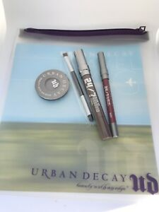 Urban-Decay-Travel-Safe-Clear-Make-Up-Bag-Lips-Liner-Eyeshadow-Dual-Brush