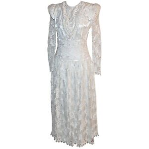 Bridal Prom Edwardian Lace Tea Length