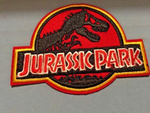 "Jurassic Park Emblem Iron//Sew ON Patch Cloth Patch Sew Appliqué 2.75""x3.75"""