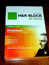 2012 H&R Block Premium Fed & State turbo Schedule C Rental/Invest. Tax Cut Box