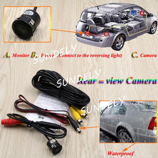 170° Wide Angle Car Rear View Back Reversing Backup Parking Camera Waterproof