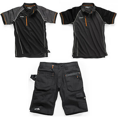 Geschickt Scruffs Ripstop Trade Shorts & Active Polo Shirt (various Options) Mens Workwear