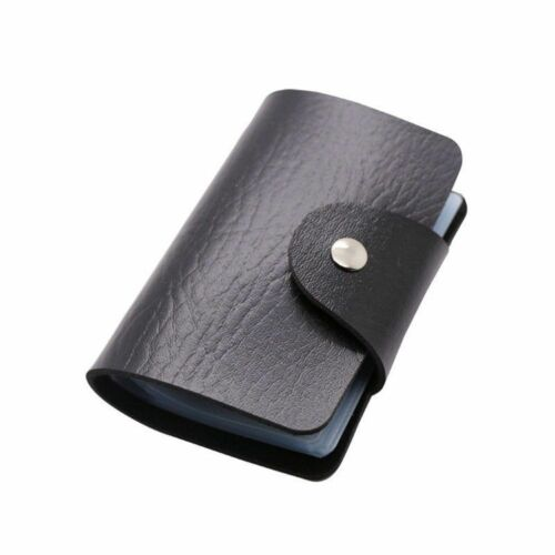PU Leather Women ID Credit Card Pouch Portable 24 Slots Wallet Bag Organizer