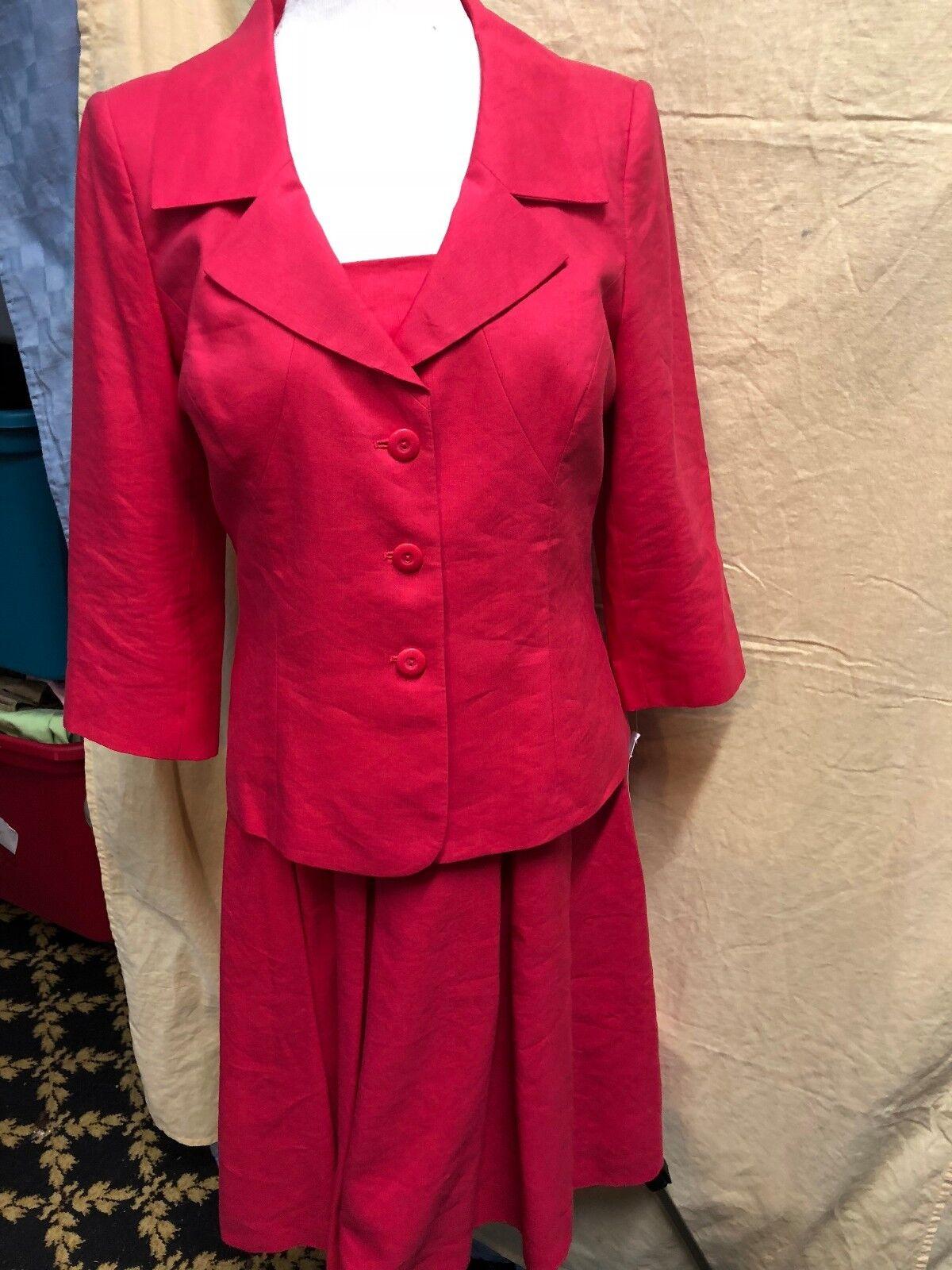 TALBOTS TailGoldt LINEN LINED SHEATH PARTY DRESS Größe 8  & Blazer  CHEST 36