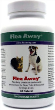 Flea Away FLA03933 Flea, Tick and Mosquito Repellent for Dogs and Cats - 100 Chewable Tablets
