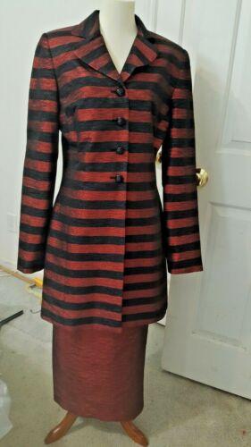 Women's Black & Shiny Cooper Metallic 2pc Skirt Su