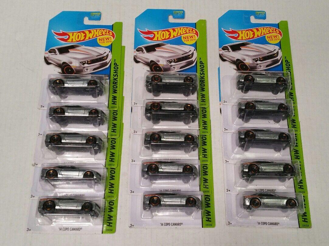 Hot Wheels 14 Copo Camaro ZAMAC Raw 15 Car Lot Walmart Exclusive HTF