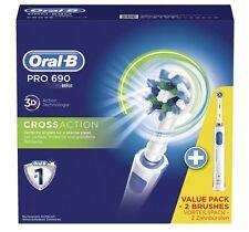 Braun Elektrozahnbürste OralB® Pro  690 / 3 D / D16.524H mit 2. Zahnbürste