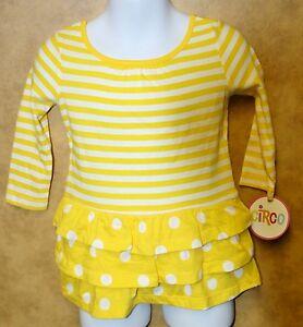 34a933281 Image is loading Circo-Infant-Toddler-Girls-Dress-Yellow-White-Polka-
