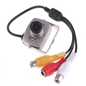 Mini-SPY-Security-Night-Vision-Hidden-Pinhole-Cam-6-LED-Wired-CMOS-CCTV-Camera