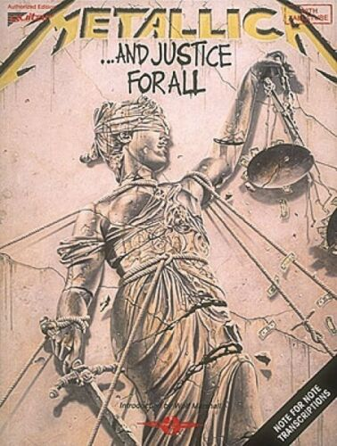 Metallica ...And Justice for All Sheet Music Play It Like It Is NEW 002506965