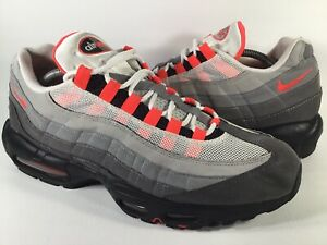Details about Nike Air Max 95 OG Solar Red Grey Black White Mens Size 12  Rare AT2865-100