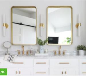 Details About New Restoration Modern Wall Mirror Antique Gold Hardware Br Hall Vanity Bath