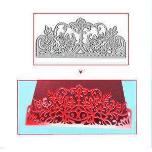 DIY Useful Lace Flowers Metal Cutting Dies Stencil Scrapbooking Album Card Decor