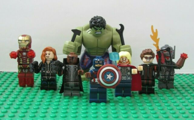 SUPER HEROES MINI FIGS 9 PCS DC MARVEL FITS LEGO THOR SPIDERMAN HULK IRONMAN