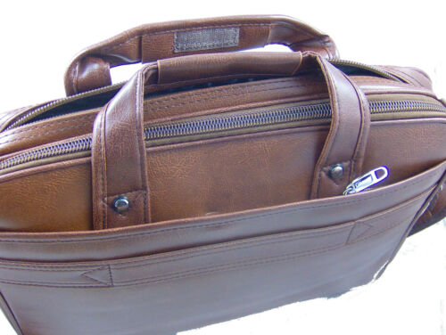 New High Quality Faux Leather Pilot Business Executive Briefcase Laptop Work Bag