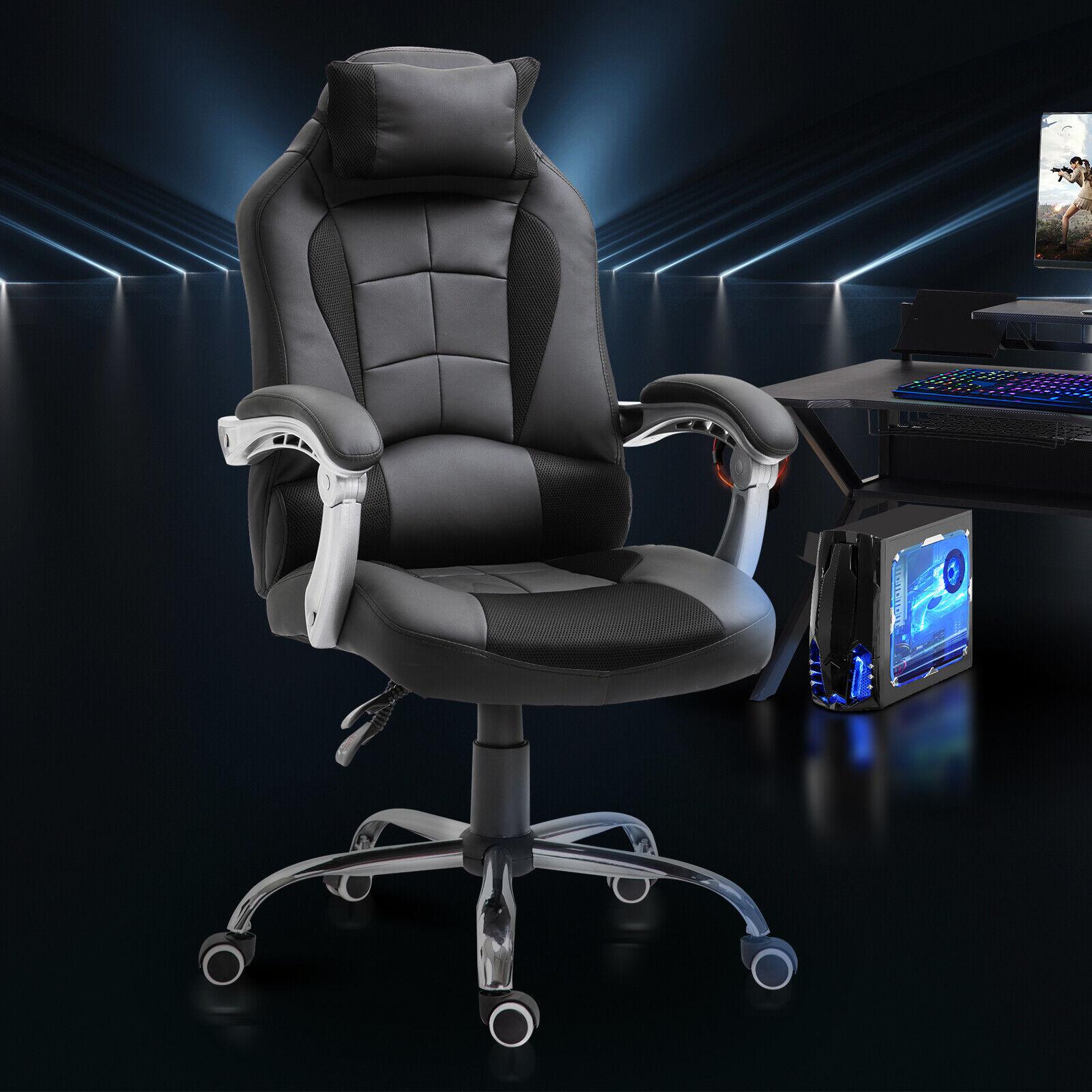 s l1600 - Gaming Silla Reclinable hasta 130°con Reposacabezas Cojín Grosor 10cm