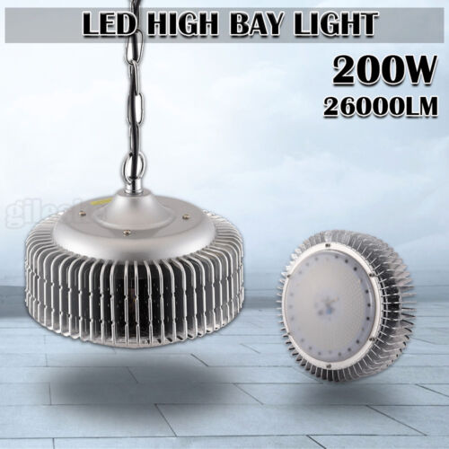 100W 200W LED High Low Bay Light Commercial Warehouse Gym Factory Shed Lighting