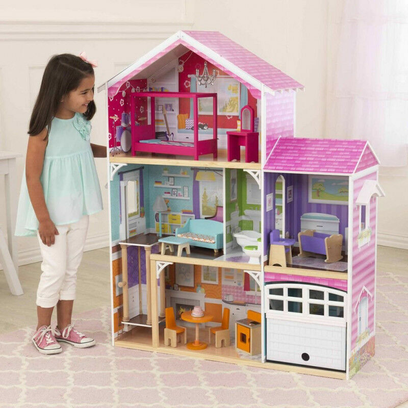 KidKraft 65943  Puppenhaus mit Möbel 3-stöckig