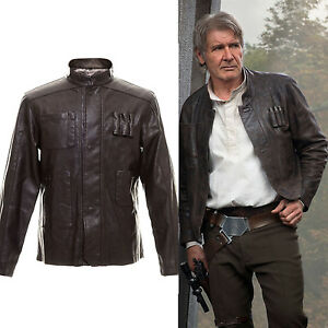 star wars the force awakens han solo cosplay jacket jacke lederkleidung kost me ebay. Black Bedroom Furniture Sets. Home Design Ideas