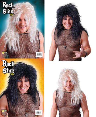 Rock Star NOIR /& Perruque Blonde Pour Adulte 1970 S 1980 S Men/'s accessoire robe fantaisie