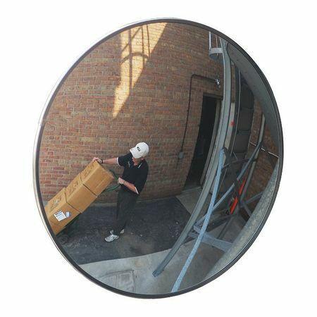 Zoro Select Scvo-Pc-12Z-Pb Outdr Convex Mirror,12 Dia,Polycarbonate