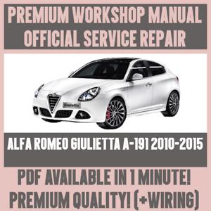 italian workshop manual service repair alfa romeo giulietta a 191 rh ebay co uk 1960 Alfa Romeo Giulietta Spider 1960 Alfa Romeo Giulietta Spider
