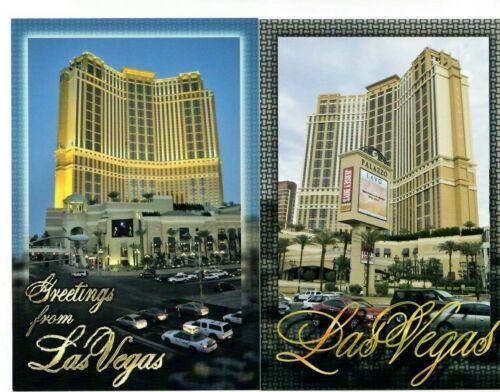 Lot of 2 Palazzo Hotel Casino Las Vegas City Center Day Night postcard lot NEW o