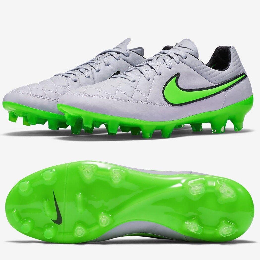 Nike Tiempo Legend V FG botas De Fútbol De Cuero gris Rrp  Talla 5-6  70% De Descuento