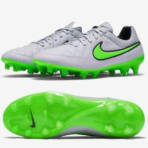 finest selection 8bf02 e3efd Details about Nike Tiempo Legend V FG Leather Football Boots Grey RRP £150  SIZE 5-6 ~ 70% OFF