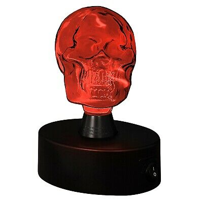 New /& Boxed Spooky Skull Pink Battery Operated Night Light or Desk Lamp
