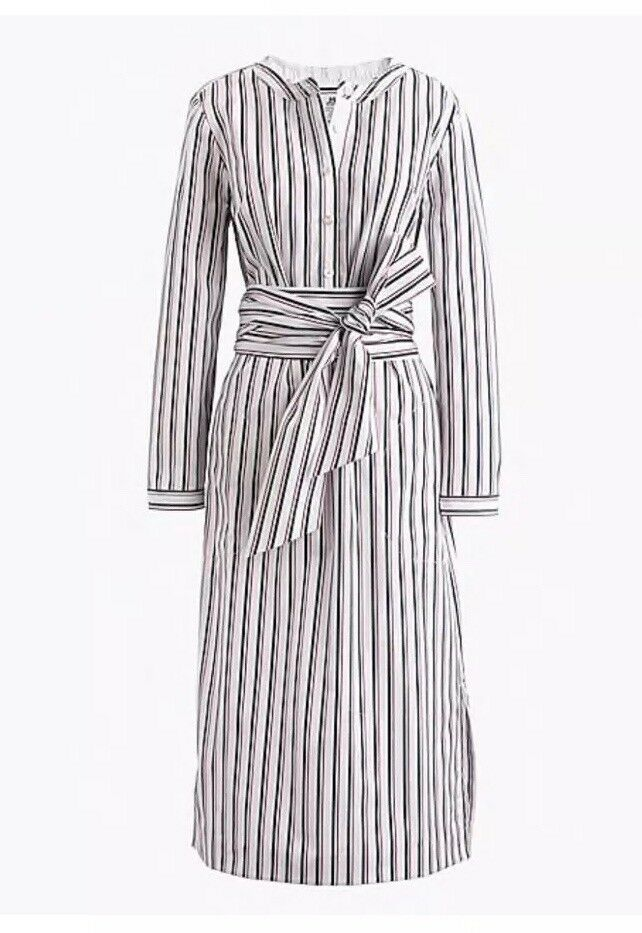 NWT  Thomas Mason® for for for J.Crew tie-waist shirtdress Size 0 G3279  SOLDOUT   d6d655
