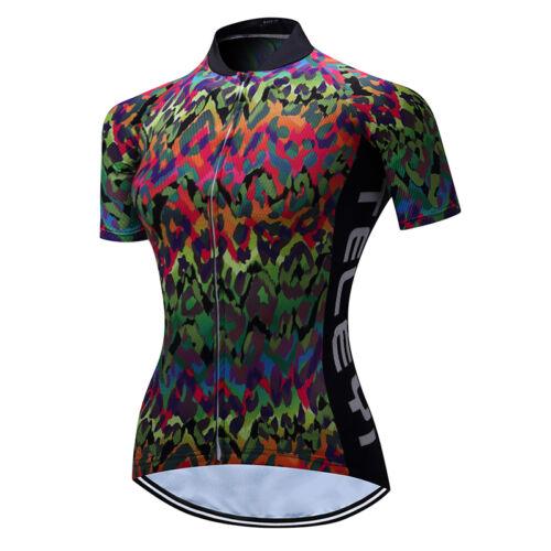 Teleyi Women/'s Bike Jersey Shirts Breathable Cycling Clothing mtb Cycling Jersey