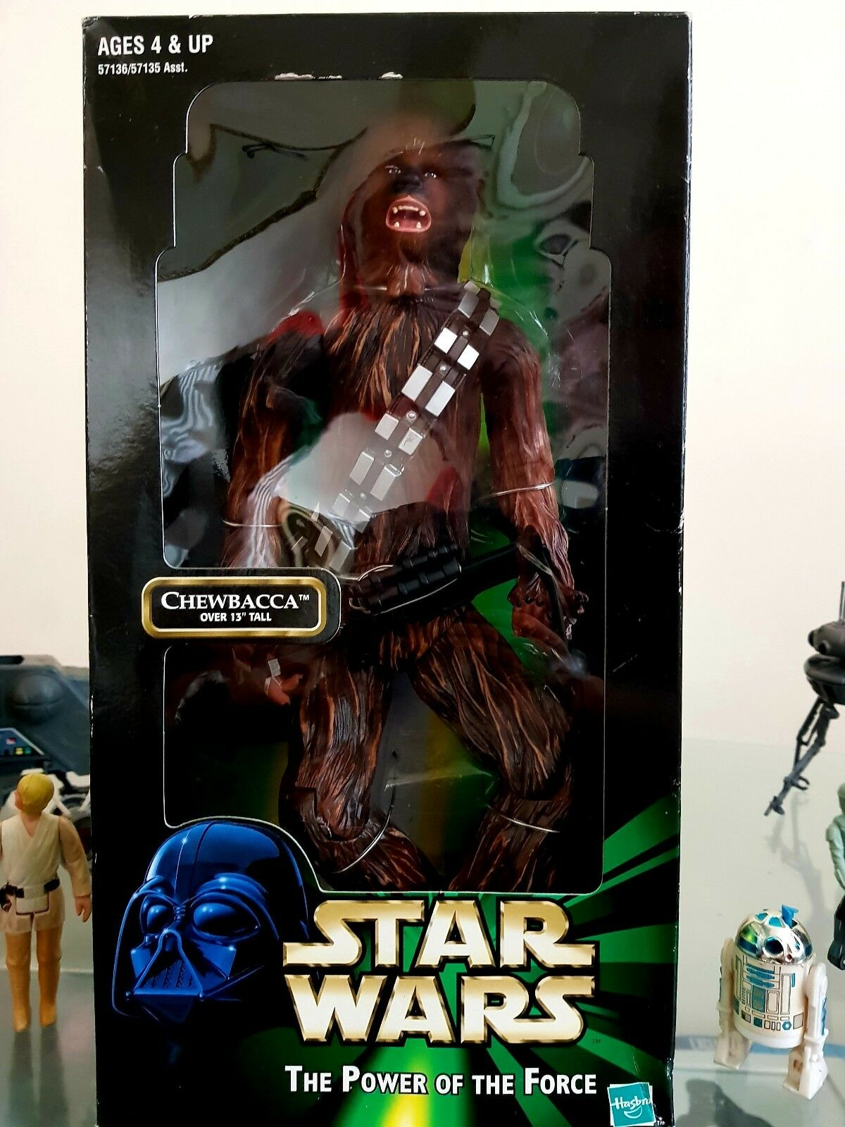 Star Wars Chewbacca Figure 12  plus Crossbow POTF Boxed