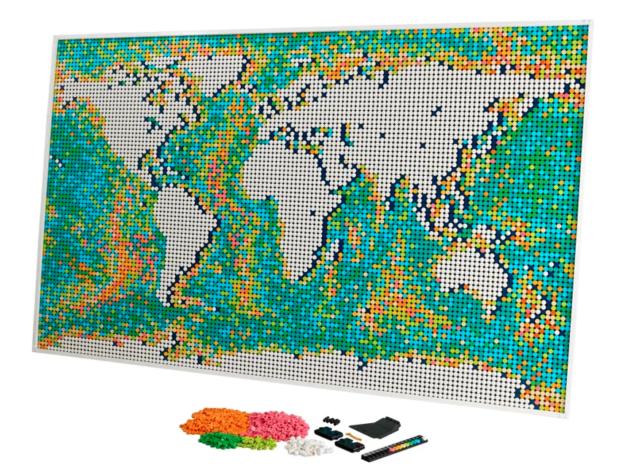 LEGO Art World Map, 11695 pieces, set 31203 - NEW, Factory Sealed
