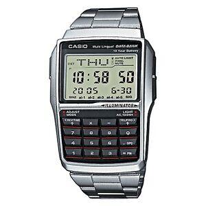 BRAND-NEW-CASIO-STEEL-DATABANK-CALCULATOR-WATCH-DBC32D-1A-UK-SELLER