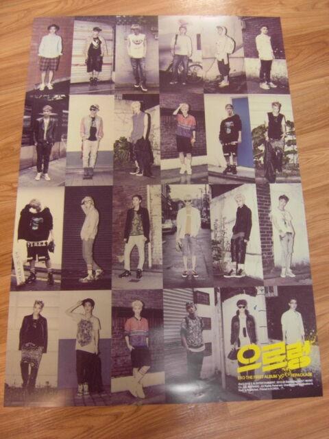 EXO - XOXO GROWL [ORIGINAL POSTER] *NEW* K-POP EXO-K EXO-M