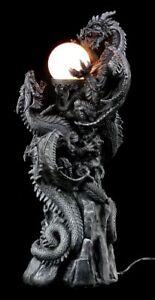 Dragon-Dragon-Lampara-GOTHIC-Fantasy-Decoracion-Lampara-de-pie
